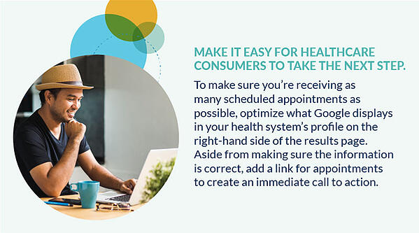 make it easier for healthcare consumers to take the next step