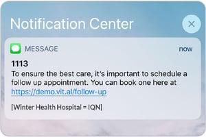 Sample text notification