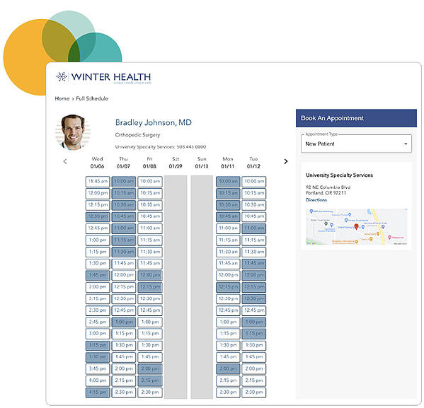 sample of stericycle self-scheduling tool as used by winter health