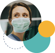 nurse with surgical mask